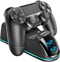 PS4 Controller Charging Dock Station, OIVO Dual Shock 4 Controller Fast Charger Dock Stand Station Updated LED Strap, Copper Connector - 28.5FT Cable Included