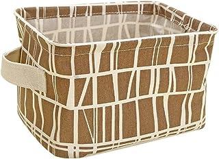 Nikgic Boîte de Rangement Panier de Rangement en Coton et Lin Panier de Collecte de Tissu Conteneur Boîte