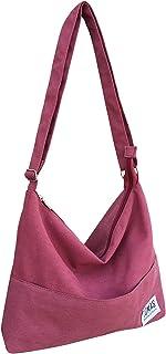 TOMAS Women Casual, Simple, Fashion, Lightweight,Durable Canvas Hobo Bag, Single Shoulder Bag Totes Bag Crossbody Bag