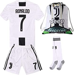 791d57d4b #7 Ronaldo Juventus Home 18/19 Season Kids/Youth Soccer Jersey & Shorts