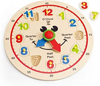 Hape Happy Hour Clock Kid's Wooden Time Learning Puzzle