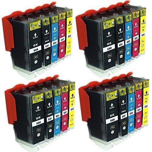 ESMOnline 20 komp. XL Druckerpatronen Canon Pixma MG 5450 5550 5650 5655 6350 6450 6650 7100 7150 7550 MX 725 925 iP 7200 7250 8750 iX 6850