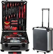 718PCS Tool box, Mechanical Tool kit General Household Hand Tool Sets Trolley Case, Portable House Repair Kit(Black 38 x 2...
