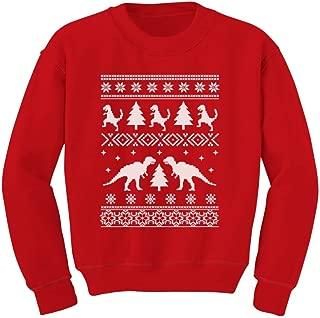 Ugly Christmas Sweater Style Funny Trex Kids Sweatshirt