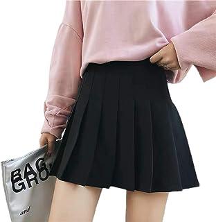 Owasi School Uniform Girls Pleat Skirt Half Drop Waist Frock Stretch Formal