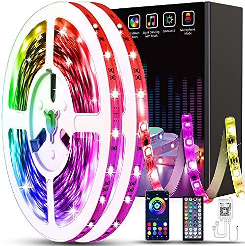130ft Led Light Strips Keepsmile APP Control Music Sync Color Changing Led Strip Lights with Remote Led Lights for Bedroom Room Home Decoration