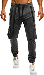 PASATO Men Camisole Pocket Overalls Casual Pocket Sport Work Casual Trouser Pants