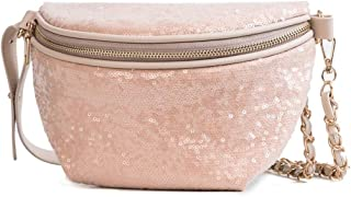 Women's Leisure Zip Waist Pack, Large Capacity Fashion Waist Bag Multifunction Shoulder Messenger Bag Chest Bag Waist Bag Travel, Shopping (Size:23cm*1cm*14cm) (Color : Khaki)
