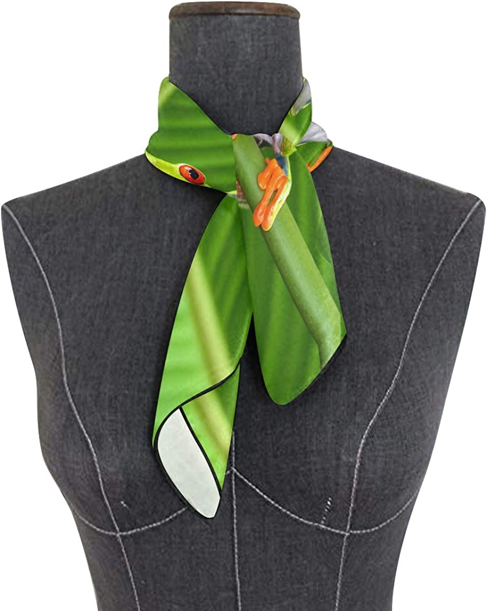 XLING Fashion Square Scarf Colorful Animal Frog Leaves Lightweight Sunscreen Scarves Muffler Hair Wrap Headscarf Neckerchief for Women Men