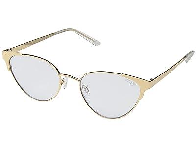 QUAY AUSTRALIA Song Bird (Gold/Clear Blue Light) Fashion Sunglasses