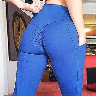 Beiziml Pockets Fashion Women Solid Bodybuilding Leggings Elastic High Waist Legging Outdoor Jogging Training Pants 6 Color
