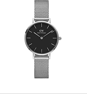 Daniel Wellington Petite Sterling, orologio da donna in argento e argento, 28 mm