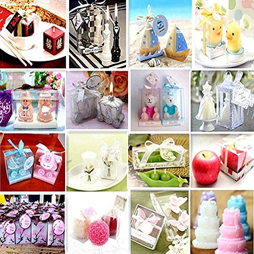 Creatieve Verjaardagskaars Creatieve Verjaardagskaars Tafel Wit Bloem Gevormde Vlinder Simulatie Kaars@8×8X2.2Cm