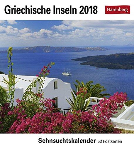 Griechische Inseln - Kalender 2018: Sehnsuchtskalender, 53 Postkarten