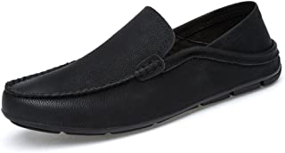 Oap Shoes For Men Men Drive Loafers For Casual And Refreshing Breathable Genuine Leather Soft Bottom To Prevent Odor A Foot Pedal Lazy Person Boat Moccasins dt (Color : White, Size : 46 EU)