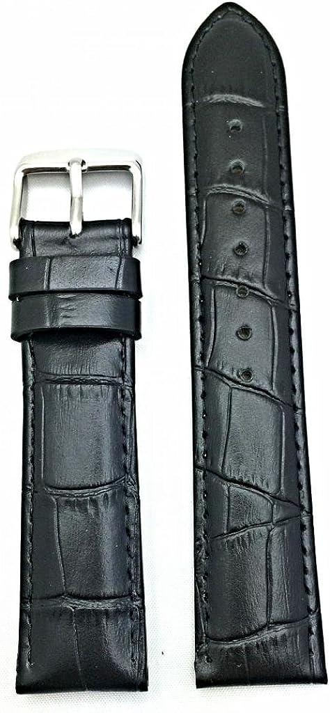 20mm Black Genuine Leather Oklahoma City Mall price Watch Alli Band Grain Square Croco
