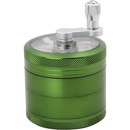 DCOU New Design Jar Style Hand Cranked Premium Aluminium Herb Grinder Gold