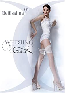 Gatta Wedding Bellissima 01 - sexy gemusterte halterlose Hochzeitsnetzstrümpfe
