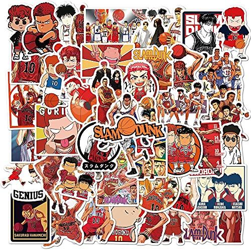 Slam Dunk Classico Giapponese Manga Adesivo Impermeabile Pvc Decalcomania Del Computer Portatile Casco Bici Bagagli Cassa Del Telefono 50 Pz