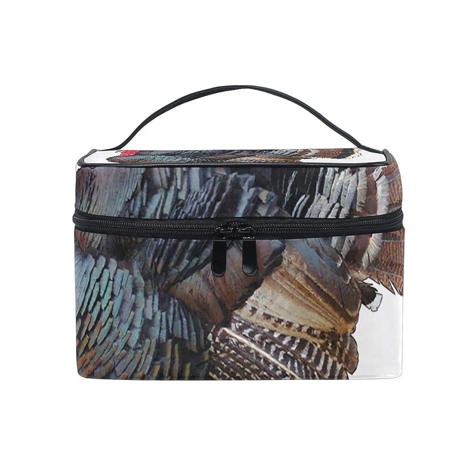 感嘆符居住者植物学者メイクボックス トルコバードフード柄 化粧ポーチ 化粧品 化粧道具 小物入れ メイクブラシバッグ 大容量 旅行用 収納ケース