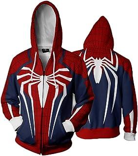 fanituhan Marvel's Spider-Man スパイダーマン コスプレ パーカー スパイダーマン 風 コスプレ 衣装 パーカー ジップタイプ コート ジャケット 長袖 男女兼用 L