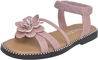 Mysky Infant Kids Baby Girls Summer Popular Lovely Solid Color Flower Criss Cross Belt Princess Sandals
