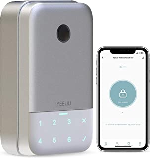 YEEUU Smart Keybox Lock with Fingerprint Passcode and Management APP, Perfect for Smart Home, Airbnb and Rental Business, ...