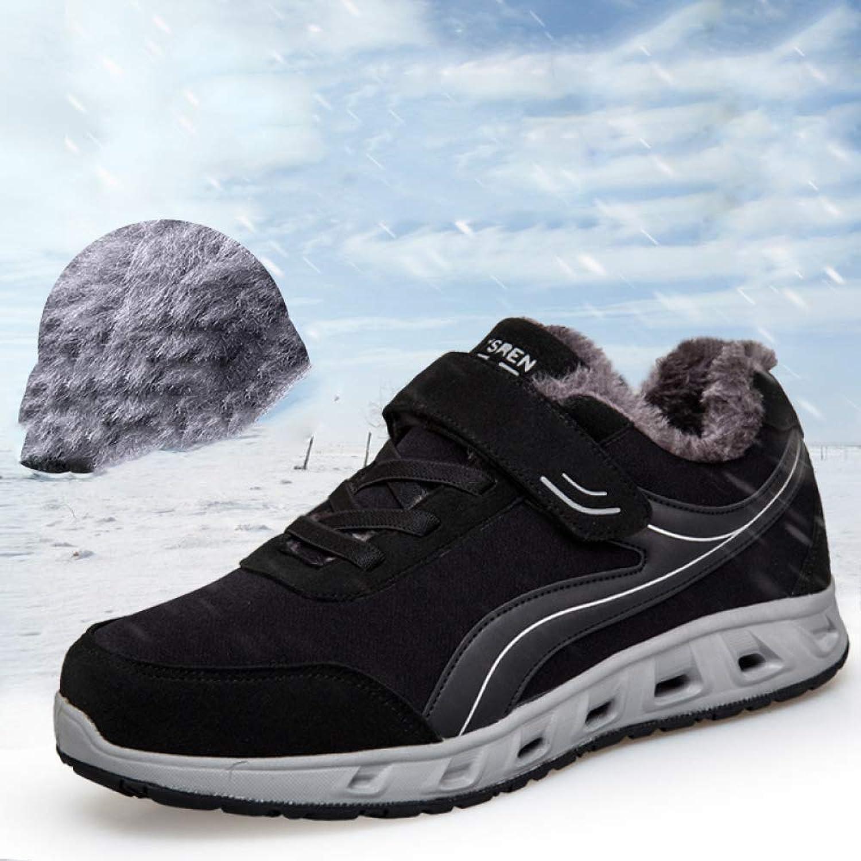 JZX Winter Middle-Aged Sports shoes, Plus Velvet Warm Walking shoes, Mother Cotton shoes