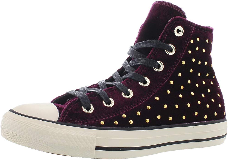 Converse Womens CTAS Hi Top Velvet Metallic High Top Sneakers
