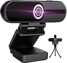 Webcam 4K HD Computer Camera 8MP Microphone PC Web Camera, Full Widescreen Laptop USB Webcams, Privacy Shutter, Tripod, Ma...