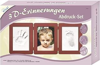 Set f/ür Neugeborene 2 Mini-Aufsteller Kit f/ür Baby Hand- und Fu/ßabdr/ücke 4 B/ÄNDCHEN /& STEMPELBUCHSTABEN Geschenk f/ür Jungen /& M/ädchen Gipsabdruckset als Babygeschenk Baby-Dekor Erinnerungs-Kit