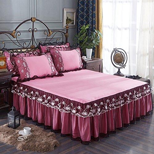SL&CL Princess lace Bett Rock,Version von der koreanischen einzelbett Abdeckung Anti-rutsch-Bett Spitze matratzenbezug bettrock mit Split-Ecken-C 180x200cm(71x79inch)