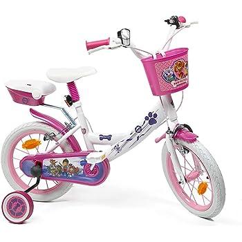 Skye Everest - Bicicleta de 14 Pulgadas para niña con Licencia de la Patrulla Canina, Color Blanco: Amazon.es: Deportes y aire libre