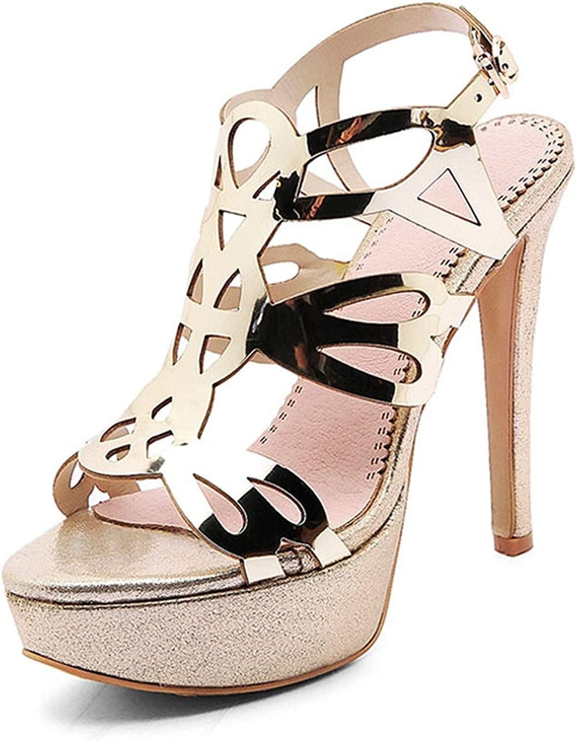 Mature Women Thin High Heels Mesh Buckle Strap Sandals Sexy Wedding shoes Solid Gladiator Sandals shoes women