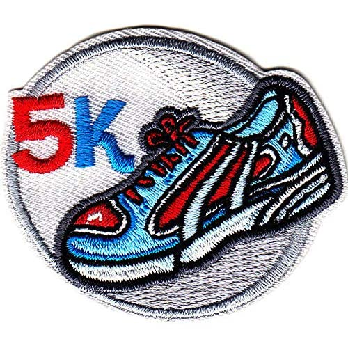 """/""""MUD RUN/"""" Iron On Embroidered Patch Sports Words Running Exercise"""