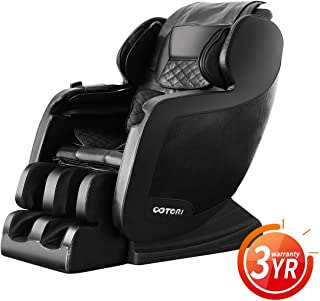 2019 Upgraded Version Full Body Automatic Household Kneading Multi-Function Electric Massage Chair with Shiatsu Heating Vibrating Airbags and Bluetooth (Black)