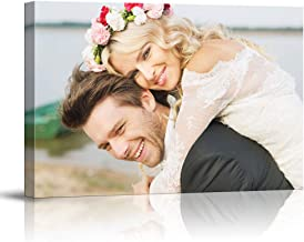 SIGNFORD Custom Canvas Prints, Marriage Photos Personalized Poster Wall Art with Your Photos Wood Frame Digitally Printed - 11