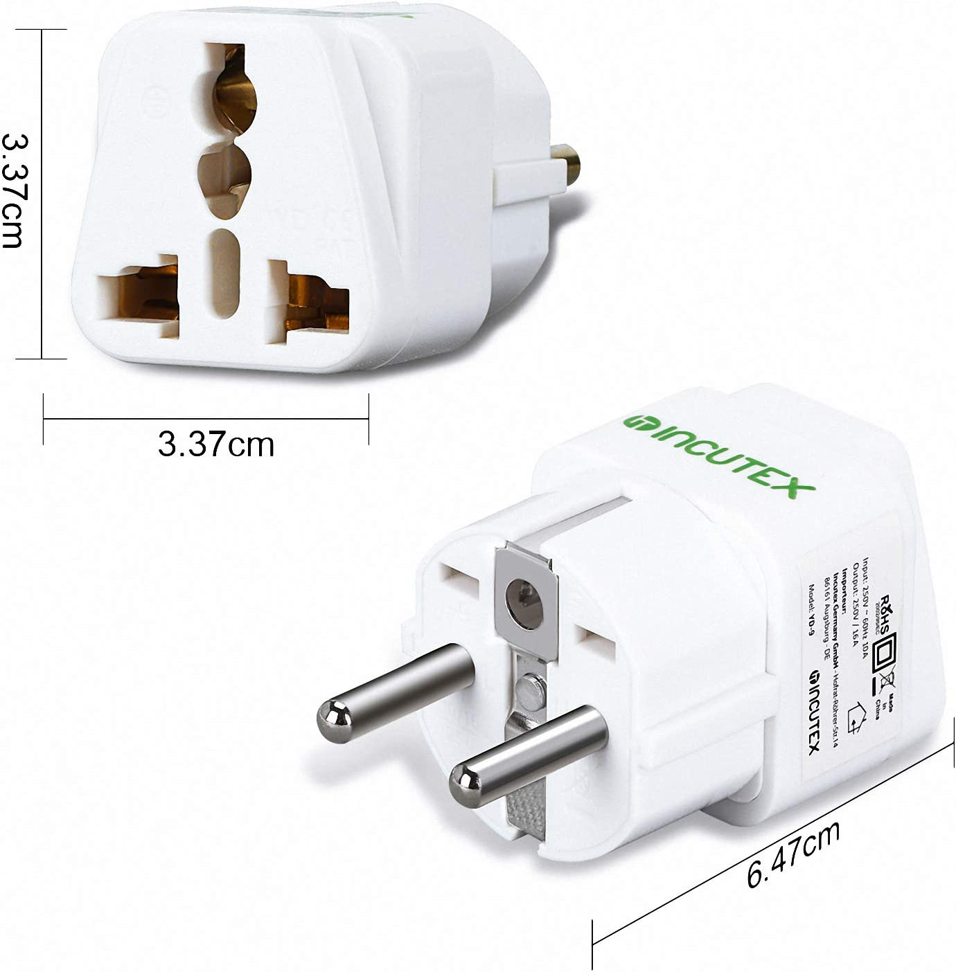 Incutex Travel Adaptor Type G A B D To Type F Elektronik