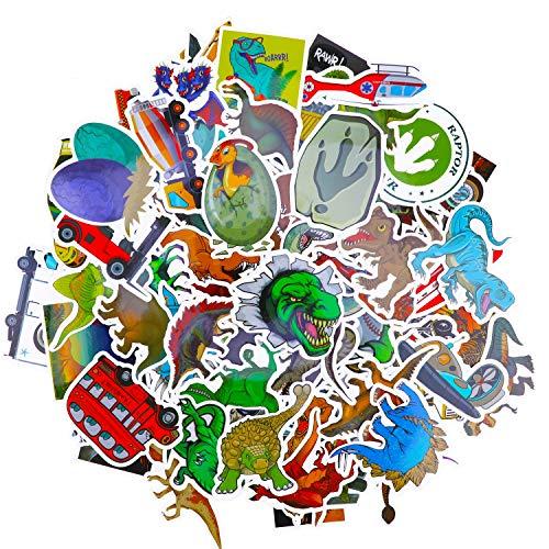 HOWAF 100 Fahrzeug Auto Dinosaurier Graffiti Vinyl Aufkleber Stickers für Laptop Gepäck Skateboard Fahrrad Helm Scrapbooking Gitarre, wasserdichte Aufkleber Pack für Kinder Jugendliche Erwachsene