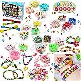 JOYIN Juguete de Cuentas de Niños DIY Beads Set 6000 Pcs Bricolaje Joyería Snap Pop Beads DIY Kit Pulsera Anillo de Collar Juguetes Regalos de Cumpleaños para Niñas