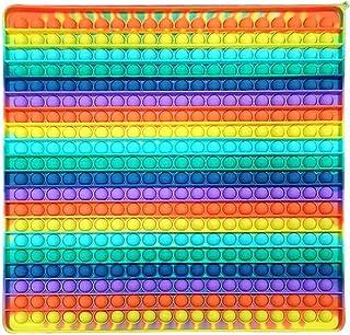Push Pop Bubble Sensory Fidget Toy, Géant Rainbow Pop It Fidget Toy Push Pop Bubble Sensory Toy TDAH Autisme Besoins Spéci...