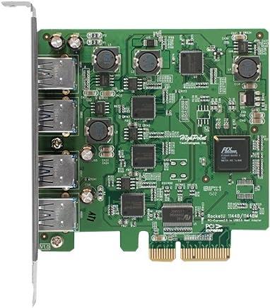 HighPoint 4-Port USB 3.0 PCI-Express 2.0 x 4 HBA RocketU 1144D