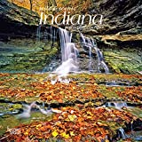 Indiana Wild & Scenic 2022 7 x 7 Inch Monthly Mini Wall Calendar, USA United States of America Midwest State Nature