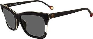 fbf73d47e1664 CH Carolina Herrera SHE752 SHE 752 0700 Black Fashion Square Sunglasses 56mm