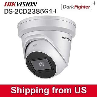HIKVISION UltraHD 4K (8MP) Outdoor Security POE IP Camera DS-2CD2385G1-I,Low Illumination Darkfighter 2.8mm Lens Dome Camera, Smart IR, H.265+, SD Card Slot, WDR DNR, IP67