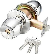 Deurknop Lock, Ronde Buitendeur Sloten Interieur met Sleutels Spenpunt Vergrendeling Gemakkelijk Installeer Deurknop Lock ...