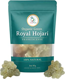 Oman Herbs Royal Green Frankincense Hojari from Oman Boswellia Sacra | Certified Healthy Pure Incense Resin Bulk (3 oz)
