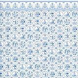 Melody Jane Casa de Muñecas Miniatura Impresión 1:12 Escala Dutch Azul Blanco Delft Azulejos Pintado
