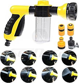 Garden Foam Water Sprayer - High Pressure Washing Tool Heavy Duty 8 Pattern Watering Nozzle Garden Hose Sprayer Gun Flow C...