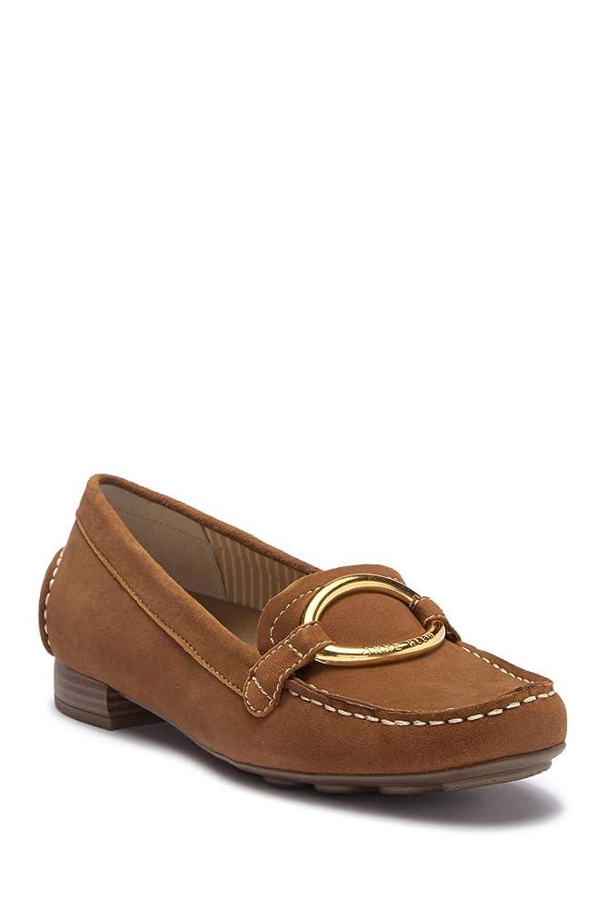 常習的最大何よりも[Anne Klein] Womens Harmonie Leather Almond Toe Loafers [並行輸入品]